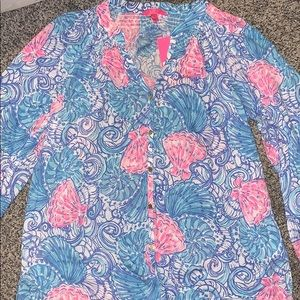 NWT Lilly Pulitzer button front Elsa